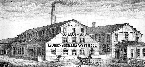 Sawyer Agricultural Works (Originally McQuesten & Co., est. 1836 by Dr. Calvin McQuesten and his cousin John Fisher)
