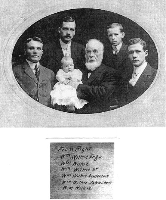 Rev. John Wilkie family, donated by Wilkie family, see W4651